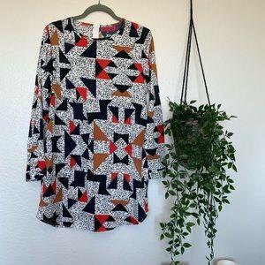 Retro mid-length dress